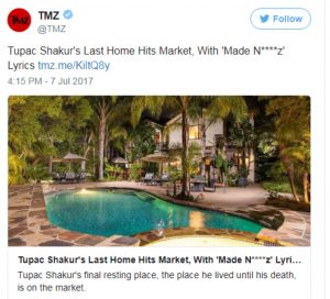 2Pac's last home can now be yours but It will cost you millions