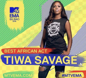 Tiwa Savage becomes first African female to win MTV Best African Act