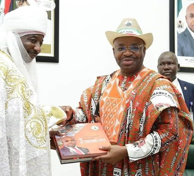 """The Emir of Kano, Sanusi Lamido, Thursday, said Akwa Ibom is a very peaceful state, describing it as """"a safe haven"""" for local and foreign investors."""