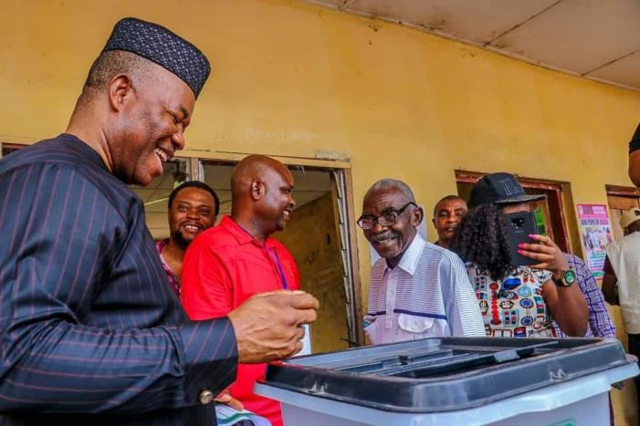 Senator Akpabio's Legal Team Inspects Election Materials