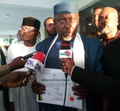 Imo West Senatorial District: INEC Issues CoR to Okorocha, Vows to Appeal Judgment on Issuance of Certificate